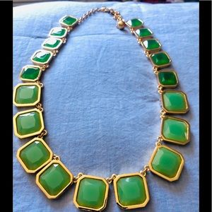 Kate Spade Two Tone Green and Gold Necklace